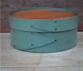 "Round Box 8"" - Recessed Lid -Sea Green"